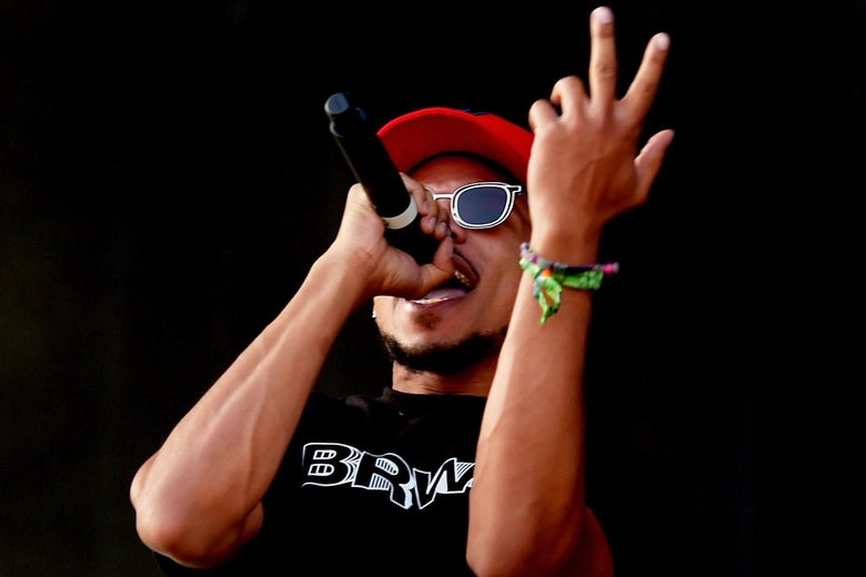 Chance the Rapper performs onstage during the 2018 Coachella Valley Music And Arts Festival at the Empire Polo Field on April 13, 2018 in Indio, California.