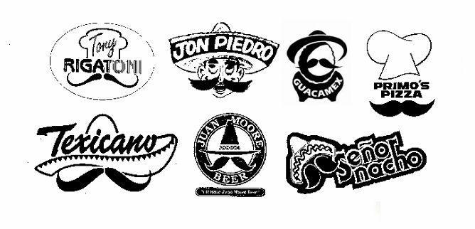 7 Mexican Italian mustache logos (668x322)