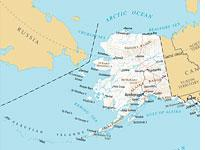 Map Of Russia And Alaska Can you really see Russia from Alaska?