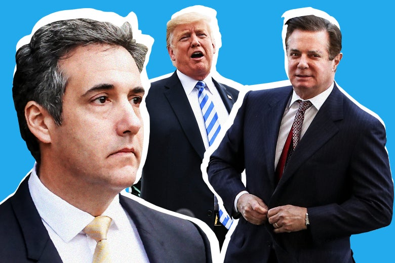 Michael Cohen, Donald Trump, and Paul Manafort.
