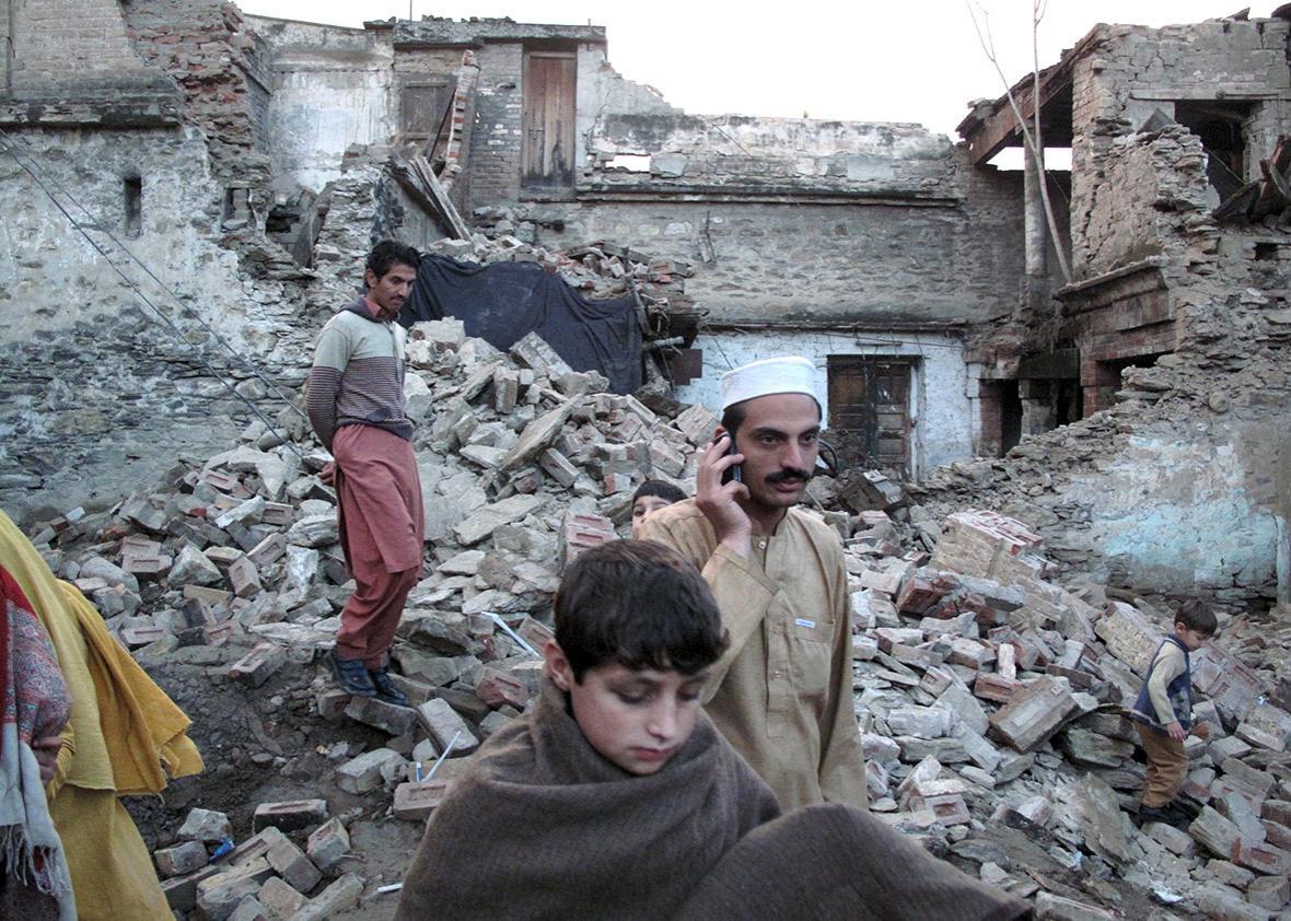 earthquake in Mingora, Swat, Pakistan.