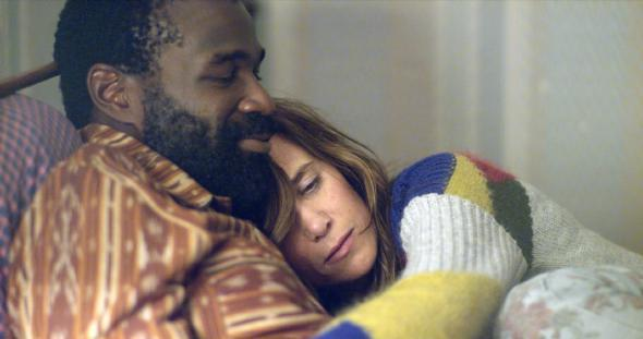 Tunde Adebimpe and Kristen Wiig in the trailer for Nasty Baby.