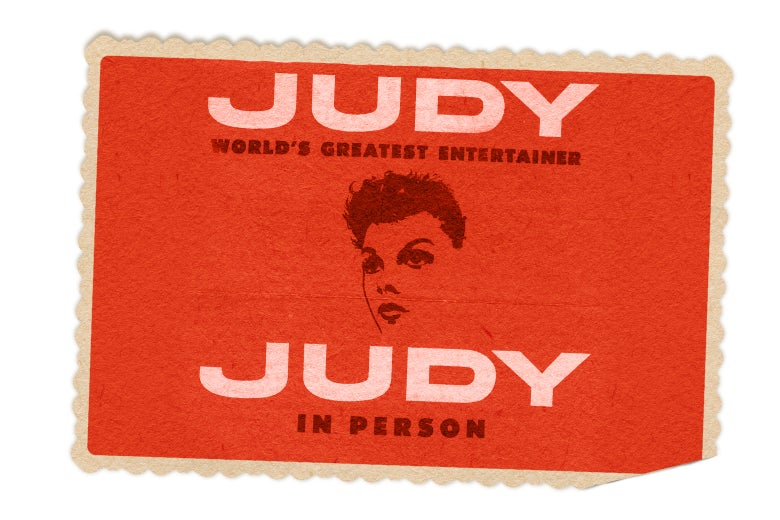 Photoshop of Judy Poster Postcard from Carnegie Hall.