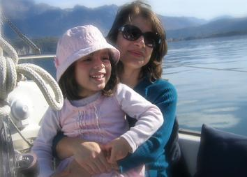 Esparza with her daughter, Arianna, who is now 4
