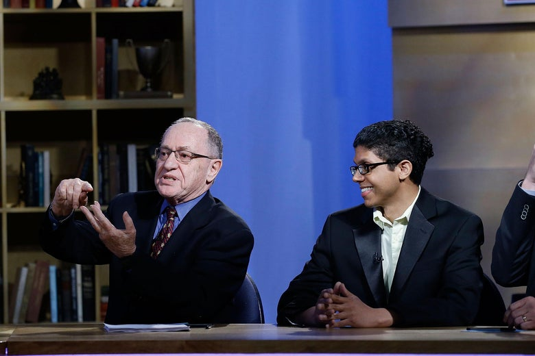 Alan Dershowitz and Tay Zonday at NEP Studios