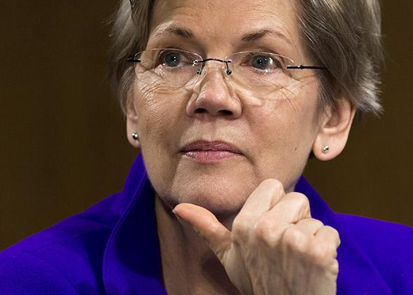 US Senator Elizabeth Warren, Democrat of Massachussetts.