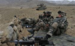 Soldiers in Afghanistan.