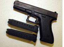 A Glock 9 mm pistol. Click image to expand.