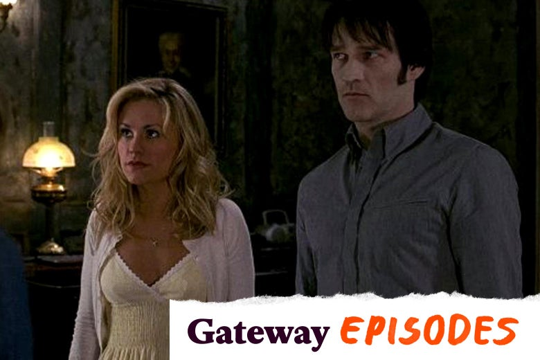 "Anna Paquin and Stephen Moyer. A tearaway logo in the bottom right reads ""Gateway Episodes."""