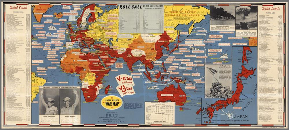 History of maps in WWII: Stanley Turner dated war event maps
