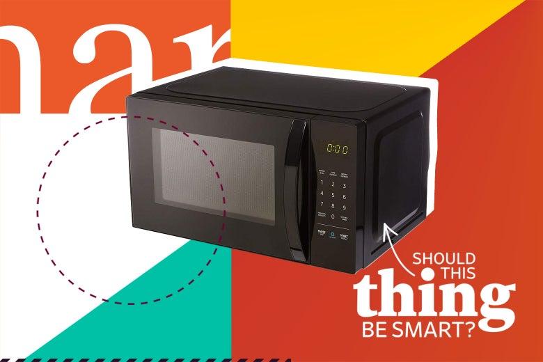 An AmazonBasics Microwave.