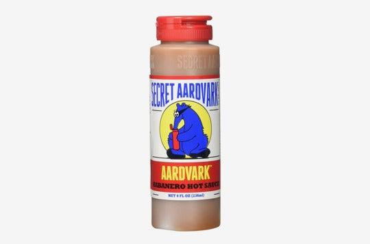 Secret Aardvark Habanero Sauce.