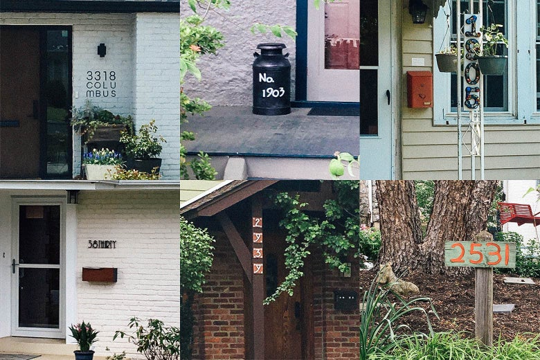 Six interesting house numbers.