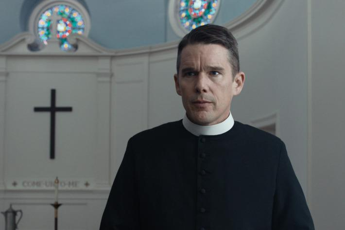 Ethan Hawke as a pastor in First Reformed.