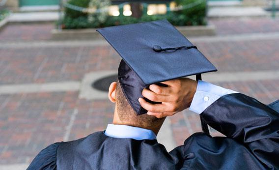 Confused college graduate.