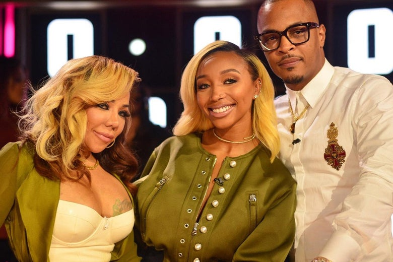 Tiny Harris, Zonnique Pullins, and T.I.