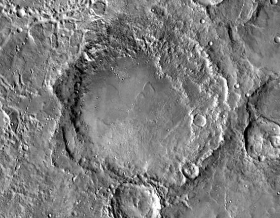 McLaughlin crater on Mars, what may have been a vast groundwater lake a billion years ago.