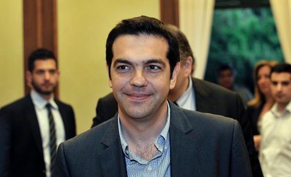 Greece's radical leftist party Syriza chief Alexis Tsipras