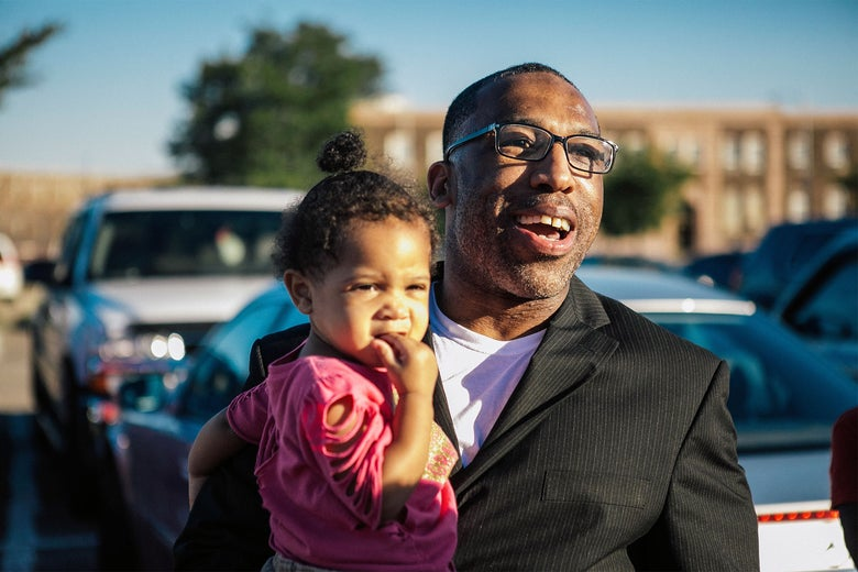 Anthony Wright with granddaughter