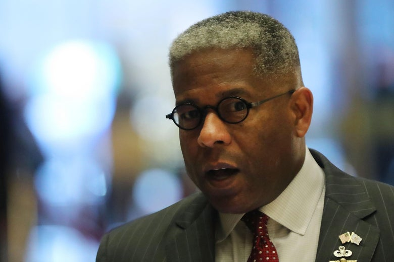 Allen West walks into Trump Tower on December 12, 2016 in New York City.