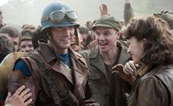 Chris Evans and Hayley Atwell in Captain America: The First Avenger, from Paramount Pictures and Marvel Entertainment. Click to expand image.