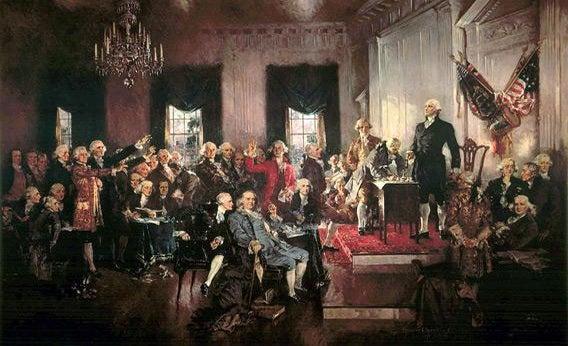 George Washington presiding the Philadelphia Convention
