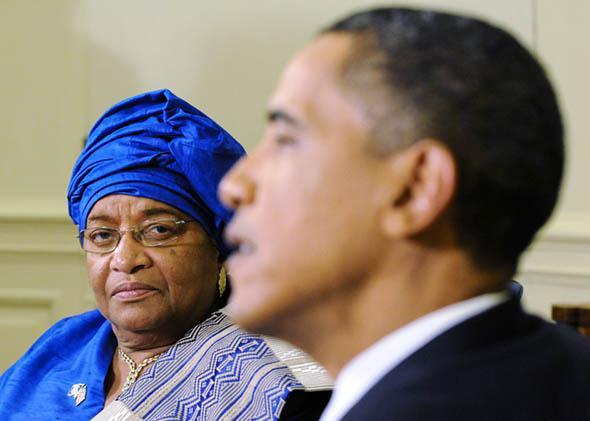 President of Liberia Ellen Johnson Sirleaf, U.S. President Barac,President of Liberia Ellen Johnson Sirleaf, U.S. President Barack Obama