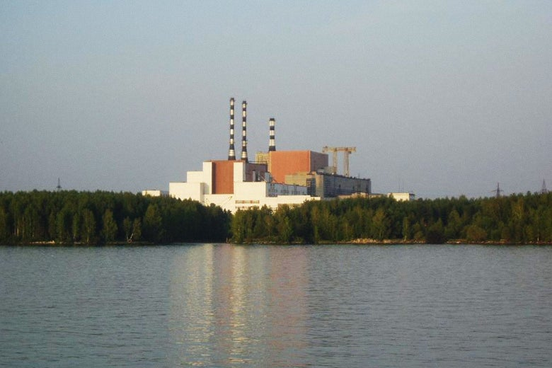 Main building of the Beloyarsk Nuclear Power Station.