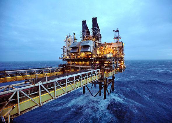 BP oil rig in the North Sea, near Scotland