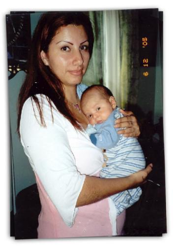 Laura Sanchez with her son Brian as a baby, June 12, 2005.