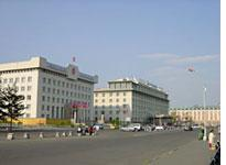 View of Ulaanbaatar Hotel (my hotel) on the right
