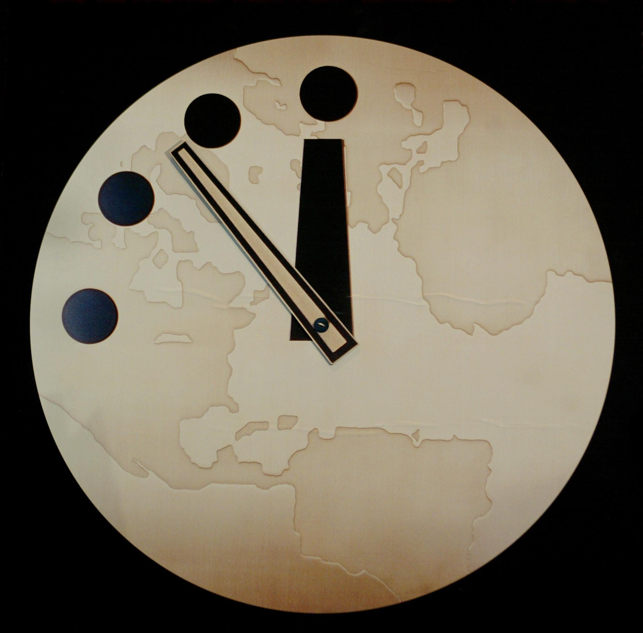 The Bulletin of Atomic Scientist's 'Doomsday Clock' reads seven minutes to midnight.