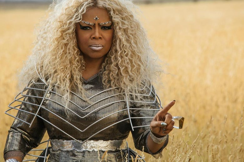 "Oprah described her look in the movie as ""Beyoncé's aunt from another planet."""