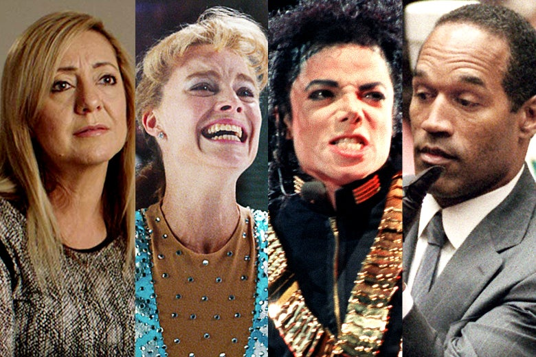 Lorena Bobbitt, Margot Robbie as Tonya Harding, Michael Jackson, and O.J. Simpson.