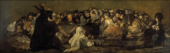 The Witches' Sabbath (The Great He-Goat) by Francisco Goya.
