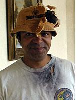 Richard Washington, sporting the floppy hat and shirt he was wearing when he was struck in 2002. Click image to expand.