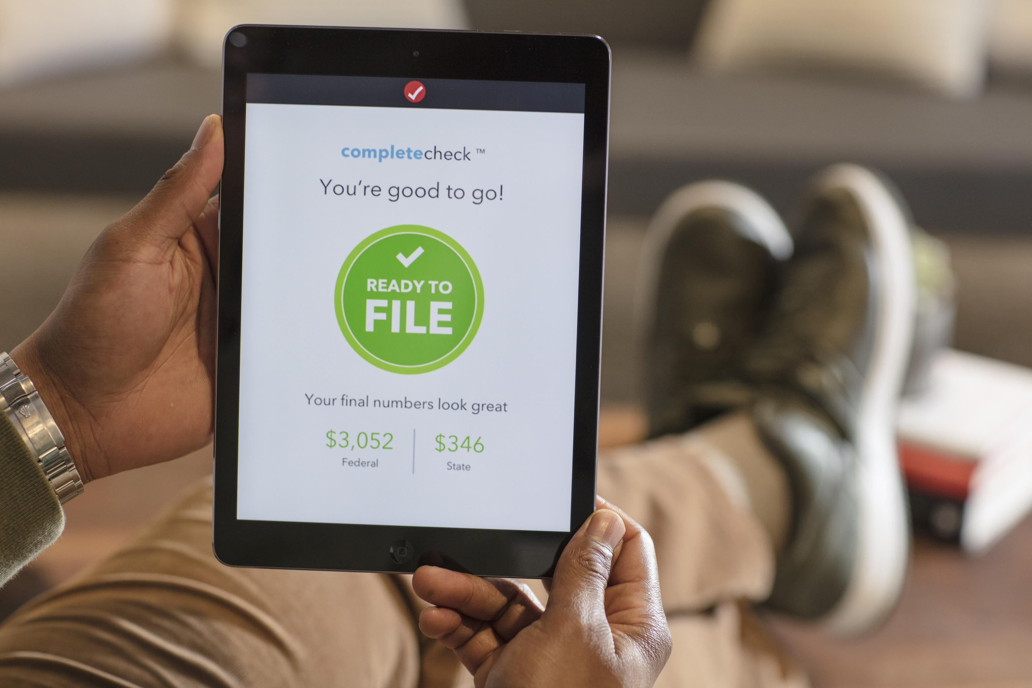 TurboTax is displayed on a device.
