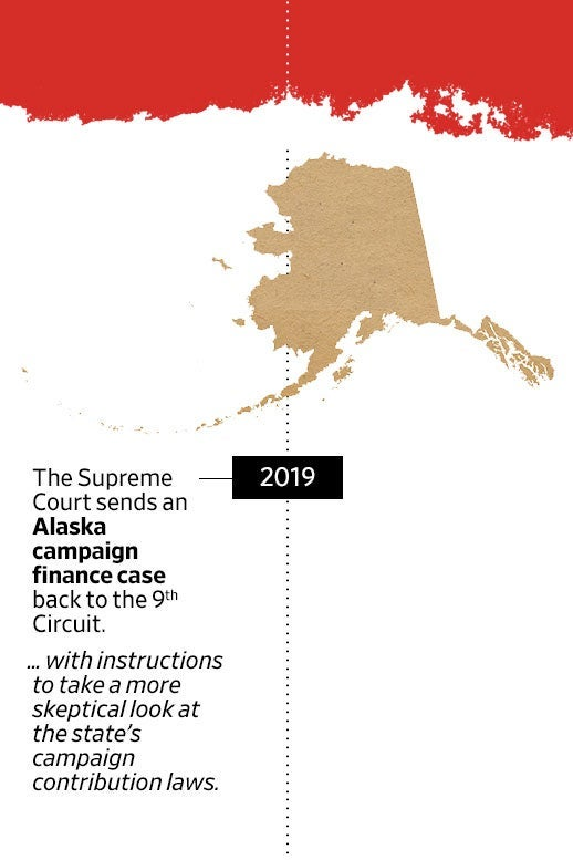 "A timeline of ""The Decade in Citizens United"" with an entry on the Alaska campaign finance case."