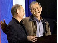 Vladimir Putin and George W. Bush