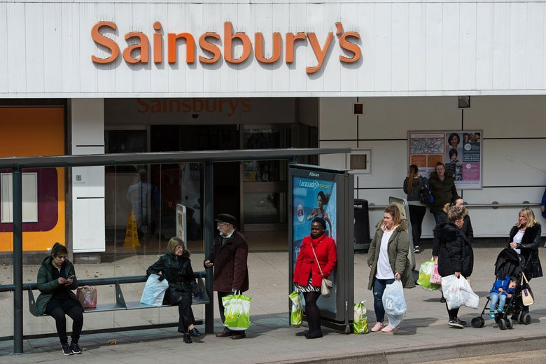 The exterior of a Sainsbury's grocery