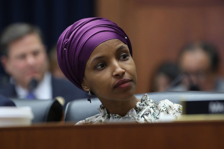 Rep. Ilhan Omar (D-MN) participates in a House Education and Labor Committee Markup on the H.R. 582 Raise The Wage Act, in the Rayburn House Office Building on March 6, 2019 in Washington, D.C.