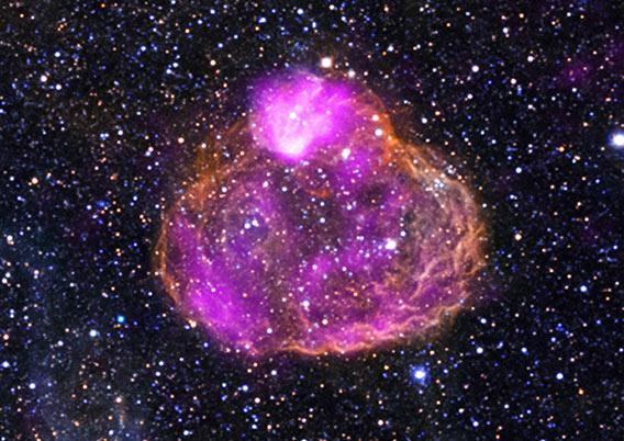 Hot stars blow a superbubble