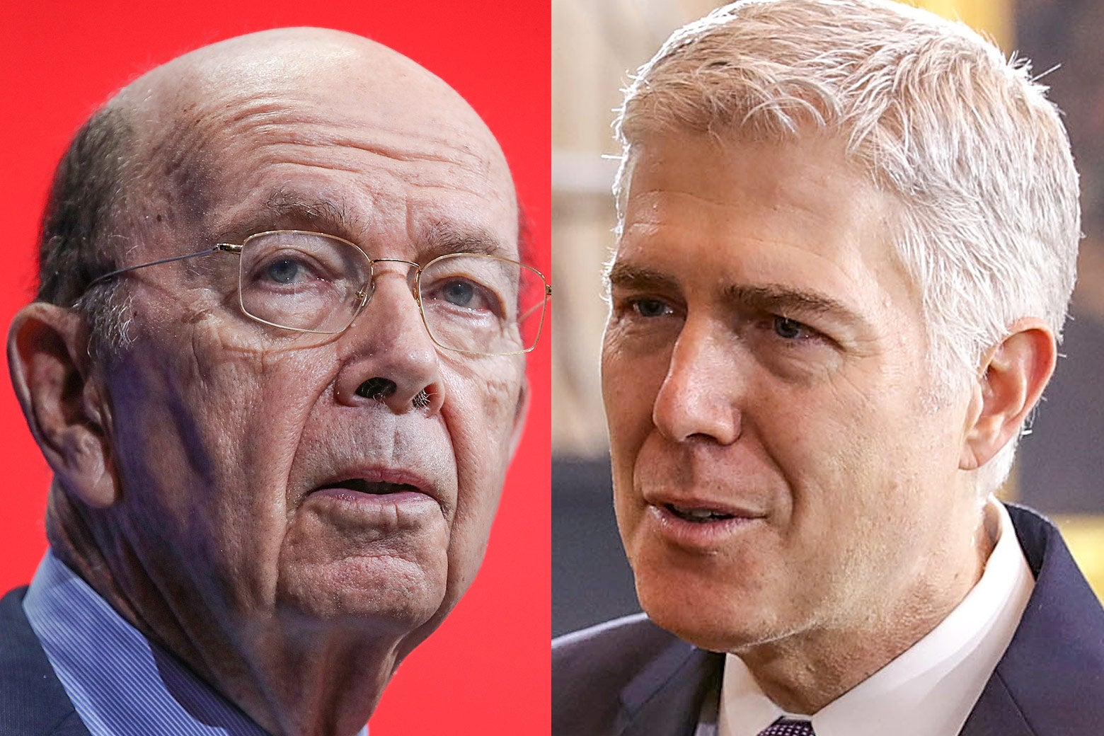 Wilbur Ross and Neil Gorsuch.