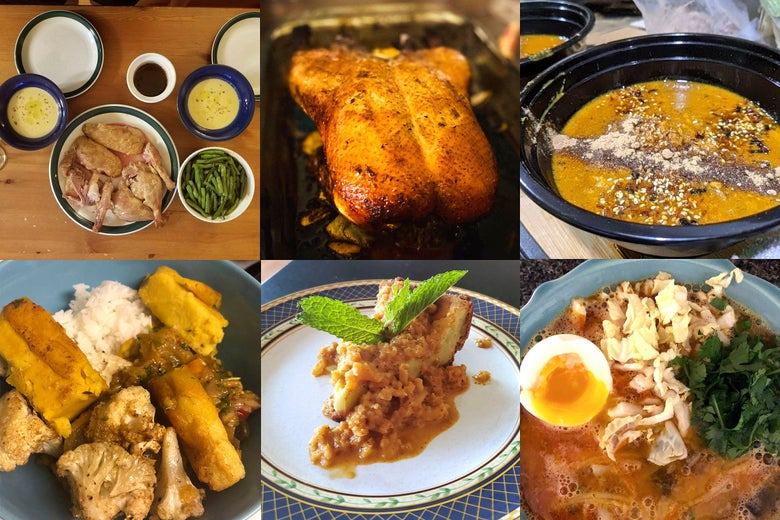 Delicious savory duck and sauce based dishes.