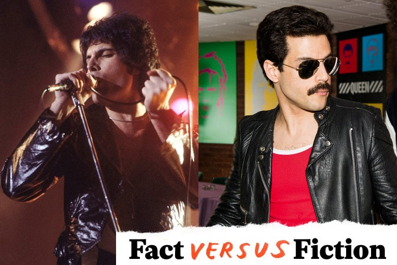 Freddie Mercury, in real life and in the movie.