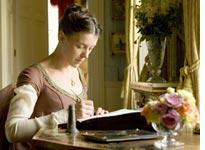 Olivia Williams as Jane Austen. Click image to expand.