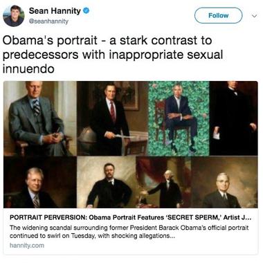 Deleted Sean Hannity tweet.