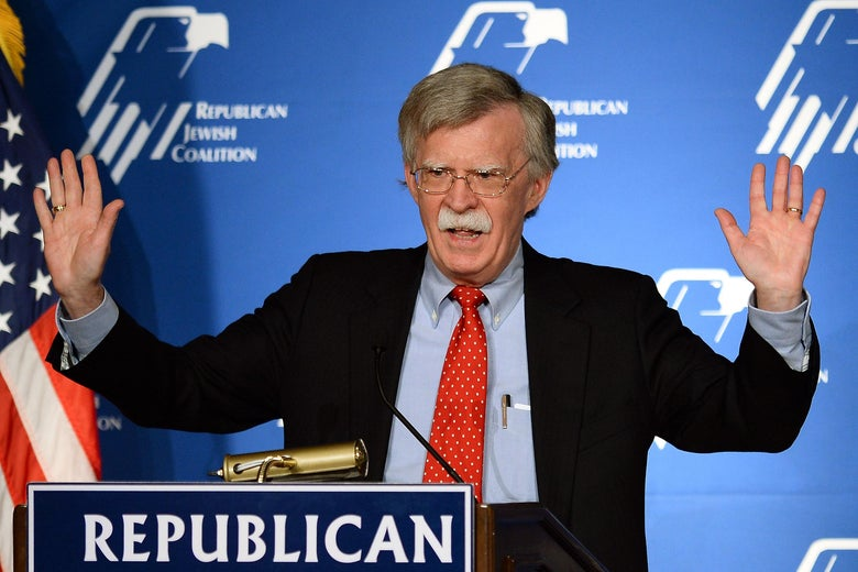 LAS VEGAS, NV - MARCH 29:  Former United States ambassador to the United Nations John Bolton speaks during the Republican Jewish Coalition spring leadership meeting at The Venetian Las Vegas on March 29, 2014 in Las Vegas, Nevada.  The Republican Jewish Coalition began its annual meeting with potential Republican presidential candidates in attendance, along with Republican super donor Sheldon Adelson. (Photo by Ethan Miller/Getty Images)