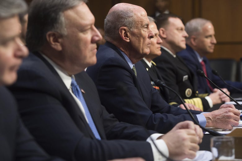 Six intelligence agency heads said at a Senate Intelligence Committee hearing that they expect Russia to meddle in the 2018 midterms.