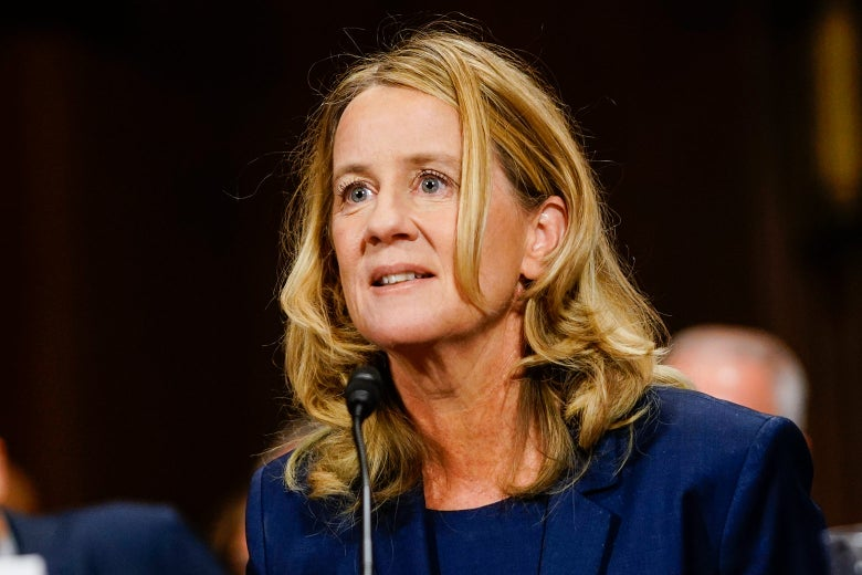 Ford testifying at a mic.